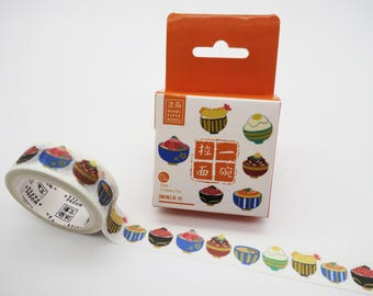 Japanese washi tape, Donburi, rice bowl washi tape, Japanese food, kawaii washi tape, cute planner tape foodie Ikura Donburi tamago Donburi