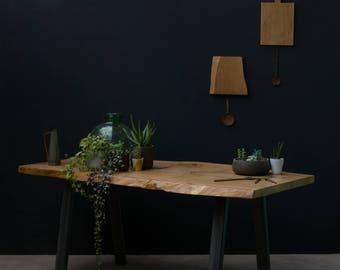 Waney Edge Oak Dining Table [Bespoke sizes!] Rustic, Kitchen, Meeting