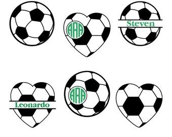 Soccer svg, Soccer Ball Svg, Soccer Monogram Svg, Soccer Mom Svg, Soccer Ball Monogram, Soccer silhouette, Cricut Files, svg, dxf, eps, png.