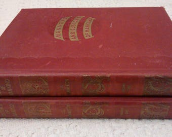 Manners and Customs of Mankind by J.A. Hammerton, VOL 1&2, 1930 Hardcovers