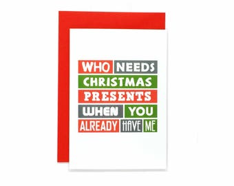 Funny Christmas Card | For Husband | For Wife | For Boyfriend | For Girlfriend | Humour | Christmas Present | Blank | SEC0009A6