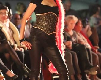 black and gold waist cincher