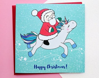 Niedliche einhorn weihnachtskarte handgezeichnete - Niedliche weihnachtskarten ...