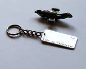 Firefly Key Chain: I aim to misbehave. Quote from Serenity movie. Great gift for a Browncoat.