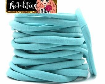 Turquoise Nylon Headband | One Size Headband | THIN Soft Nylon Headband for baby and adults| Premium Infant & Baby Headbands | BULK