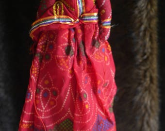 Rajasthani Puppet/Doll (lady/red)