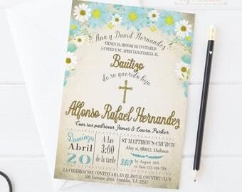 Invitacion de Bautizo / Digital Printable Invite for Kids / Invitaciones en Espanol