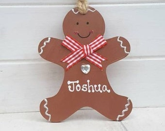 Personalised Christmas Decoration, Personalised Gingerbread man, Cute Christmas tree dec, Gingerbread man