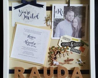 Custom Wedding Invitation Shadow Box
