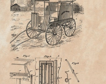 Refrigerator Wagon Patent #643244 dated Feb. 13, 1900.