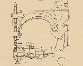 Machine for Sewing Straw braid Patent #218413 dated August 12, 1879.