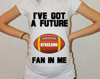 Steelers Maternity Shirt Pittsburgh Steelers Baby Future Fan Shirt Baby Boy Baby Girl Football Pregnancy Shirt Baby Shower Pittsburgh