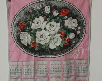 1969 calendar Tea towel.