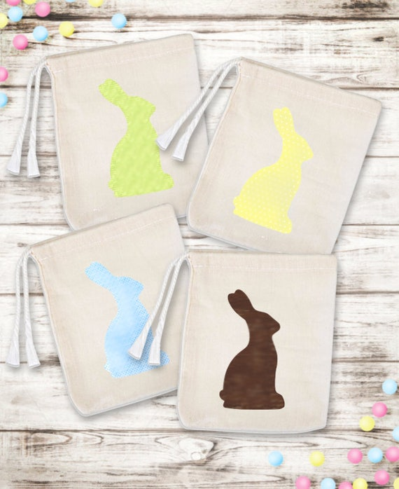 Set of 6 Easter Bunny Favor Bags