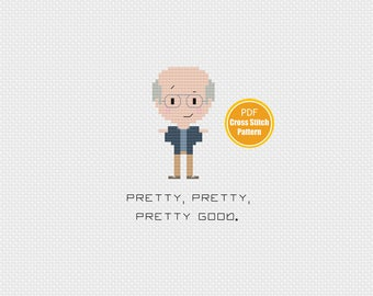 Curb Your Enthusiasm Cross stitch Pattern -  PDF file Instant Download - Larry David - Pretty Pretty Pretty Good - Crosstitch Pattern
