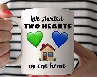 Coffee Mug Larry Stylinson Sweet Creature Two Hearts in One Home Cup