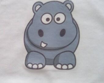 Baby Vest, Hippo Baby Vest, Hippo Gift, Baby Gift, New Mum Gift, Animal Clothing,Baby Boy, Baby Girl, New Mom Gift, Newborn to 36 months.