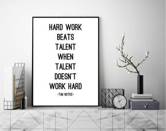 Tim Notke Quote, Wall Art, Art Print, Typography Poster, Scandinavian Art,