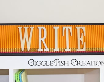 Pencil Classroom Decoration | Teacher Gift | New Teacher Gift | Writing Teacher