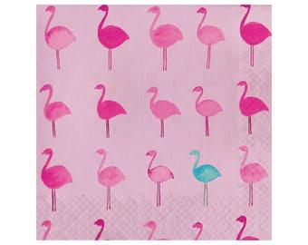 Flamingo Napkins - Flamingo Party Decor - Party Decorations - Palm Springs Party - Let's Flamingle - Lets Flamingle - Flamingle Bachelorette