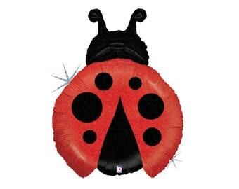 """27"""" Ladybug Balloon - Ladybug Baby Shower - Ladybug Birthday - Ladybug Party - Party Balloons - First Birthday - Photo Props - Balloons"""