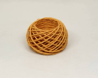 Orange Hemp Yarn 1.4mm
