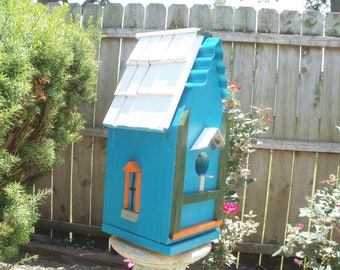 Teal Birdhouse