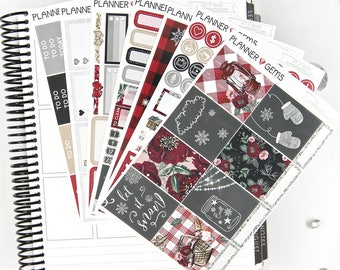 Let It Snow Deluxe Weekly Planner Kit | 250+ Stickers | Planner Stickers | For Erin Condren LifePlanner