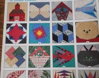 101 Foundation-Pieced Quilt Blocks with full sized patterns - Book by Linda Causee