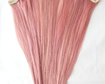 Clip in extension etsy rose gold hair extensions clip in human hair auburn rose gold hair double pmusecretfo Choice Image