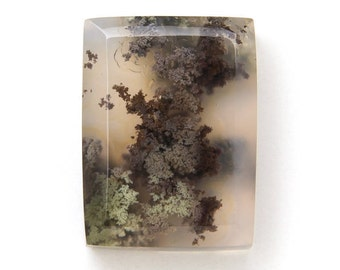 Moss Agate Cabochon - Rectangle Moss Agate Stone - Natural Gemstone - Pendant Cabochon - Ring Cabochon - Wire Wrap Cabochon