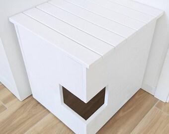 corner litter box cover pet house cat litter box cabinet pet furniture made