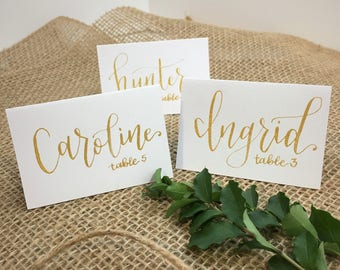 custom calligraphy place cards escort cards wedding place cards custom calligraphy wedding decor