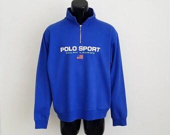 Vintage Ralph Lauren Polo Sport 1/4 Zip Pullover Sz. XL