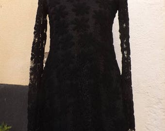 A magical touch Sanlivine double black lace dress
