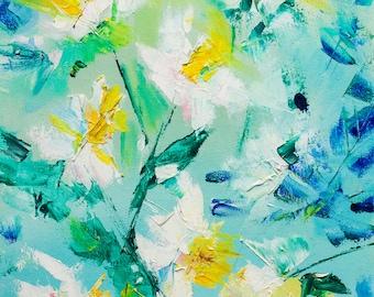 daffodil painting   etsy