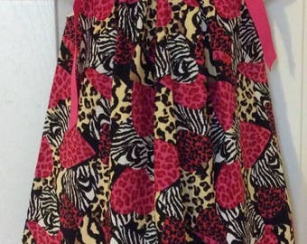 Funky Hearts Pillowcase Dress Size 3T