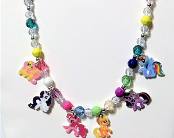 My Little Pony Charm Necklace, My Little Pony Charm Bracelet, My Little Pony Jewelry, My Little Pony Party Favors