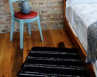 Black and White Rugs, Beni ourain rug, Modern rug, Pattern rugs, Berber Rugs, Area rugs, Handwoven Cotton | Eco friendly | Washable.