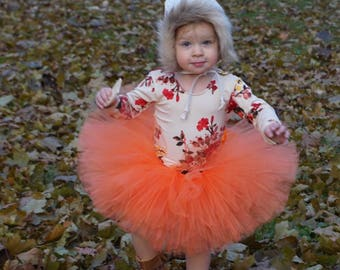 Orange tutu, Thanksgiving tutu, Fall tutu, tutus for girls, birthday tutu, photography prop