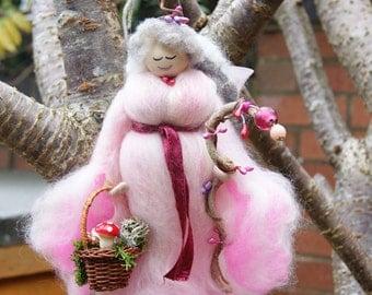 Raisie. Wool Felt Fairy. Wool Fairy. Felt Fairy. Spirit Fairy. Irish Fairy. Felted Wool Folk. Handmade Fibre Fairy. Fairy Decoration. Fairy.