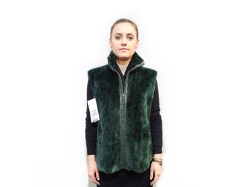 Beaver and Leather Vest,Fur Fashion Vest F324