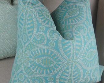 Citrine Baby Blue Pillow Cover, Decorative Throw Pillow, Housewares Decor, Home Living 0094
