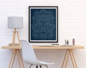 """Carl Sagan Mote of Dust Art Print 