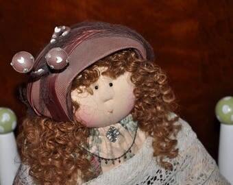 "Little Souls Doll, Little Souls Swanky, Little Souls Clarise 24"", Gretchen Wilson, Cloth Dolls, One-Of-A-Kind, Dolly Mama, Ooak"