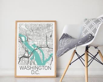 Washington DC Map/DC Map/Washington DC Poster/Washington dc/dc map poster/Washington Map Art/Washington Map Print/Washington Map/City Map