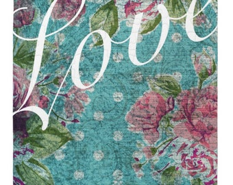 Vintage Floral Custom Date Puzzle