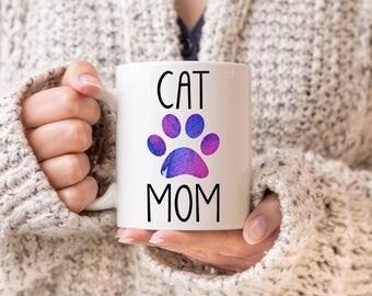 Cat Mom Coffee Mug, Cat Lover Coffee Mug, Gift for Cat Mom, Gift for Cat Lover, Cat Lover, Cat Mom Mug, Cat Lover Gift, I Love My Cat Gift