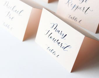 Handwritten Calligraphy Wedding Place Cards, Escort Cards, Name cards