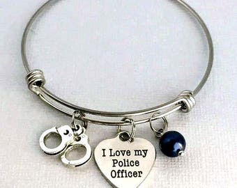 Police Wife Gift, I Love My Police Officer, Police Girlfriend, Police Mom, Police Family, Officer Support